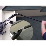 HelmsMate U-joint Allows you to steer and control throttle at an angle from your outboard tiller