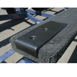 Patented Bunk Enders protect your trailer bunk end when loading your boat