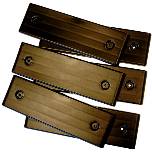 Boat Trailer Slides E-Z Slide Trailer Pad Bunk Glides Kit 4 Black